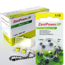 60 Zenipower Hearing Aids Aid Batteries Size 10 Expire 2020 FREE Battery Caddy