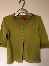 MONSOON size 8 Olive Green Cardigan