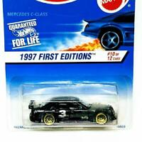1997 Hot Wheels First Editions Mercedes C Class Black Gold Lace #10 #516 Rough