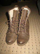 Ladies Brown Leather ALDO Boots Size 39