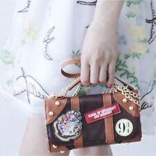 Harry Potter Hogwarts PU School Badge Wallet Hand Satche Purse Shoulder Bag Gift