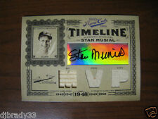 Stan Musial 2005 Playoff Prime Cuts 6/10 Triple Game Used  MVP Autographed 1/1