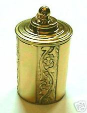 Thimble Case Brass Embossed18th century Repro