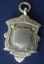 Vintage Sterling Silver Boy Scout BOXING Medal or Watch Fob 1939 James Fenton