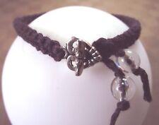 Bracelet amitié macramé violet * Fermoir  Coeur * Fait main  * Cadeau petit prix