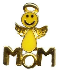 SMILEY FACE Angel Mom Lapel Pin - Mother Pin