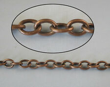 2 Meters antiqued copper oval metal chain 9x7mm M18684