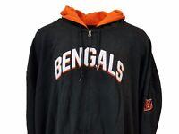 Cincinnati Bengals NFL Majestic Black Full Zip Hoodie, Mens, 5XL 6XL, nwt