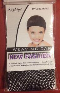 ELASTIC REAL HAIR WIG CAP FISHNET LINER WEAVING MESH STOCKING SLEEP NET - Black