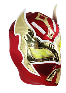 SIN CARA (pro-fit) Lucha Libre Mexican Wrestling Luchador Adult Costume Mask RED