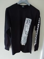 Stussy Long Sleeve T Shirt Black with Renaissance Panel to Front - Small