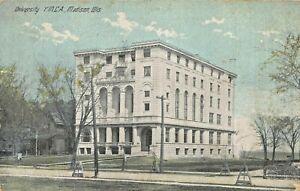 MADISON WISCONSIN~UNIVERSITY~Y.M.C.A. YMCA~1914 PSTMK POSTCARD