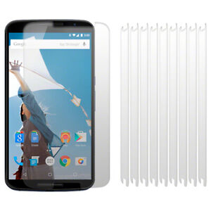 10 Front Screen Scratch Protector Guard Cover For Google Nexus 6