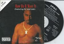 2PAC ft KC and JOJO - How do u want it CD SINGLE 2TR EU CARDSLEEVE 1996 RARE!!