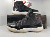 Nike Air Jordan Retro XI 11 72 10 Black White Gym Red Anthracite 11 378037-002