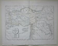 1822 CARTE DE L'ASIE MINEURE de Selves litografia map Anatolia Asia Minor Turkey