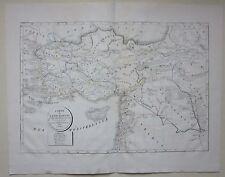 1822 CARTES DE L'ASIE MINEURE Selves lithographie Anatolie Asia Minor Turquie