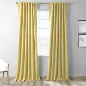 Abstract Misted Yellow Blackout Room Darkening Curtain (1 Panel)