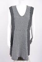 Lane Bryant Women's Fit Fkare A-Line Dress 18-20 Black White Sleeveless V-Neck