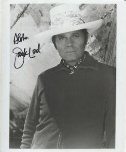 10 x 8 b/w photo  hand signed JACK LORD  - AFTAL COA  - undedicated