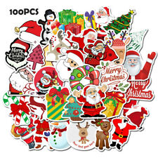 100Pcs Skateboard Stickers Pvc Laptop Luggage Suitcases Decals Christmas Sticker