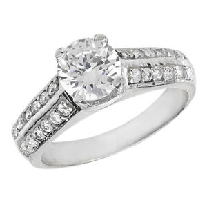 Sterling Silver Solitaire Ring Engagement Gemstone 925 Hallmarked Size M - T