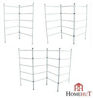 Laundry Airer 2 3 4 Fold 5 Tier Clothes Horse Drier Indoor Drying Rack Folding