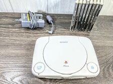 Sony Playstation PS One PS1 Slim Video Game Console power cable 8 Untested games