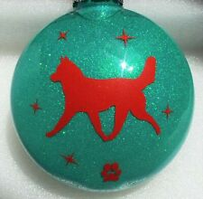 Dog Breeds Siberian Husky, Alaskan Malamute, Sled Dog, Ornament
