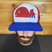 Vintage Hockey Hartford Whalers New Era Snapback Hat Cap Retro Logo