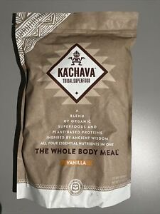 Ka'Chava Tribal Superfood Organic Meal Vanilla Protein Powder EXP 1/2021