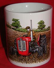 BN-Vintage Massey Ferguson Pflügen Traktor Becher, Little Red Becher