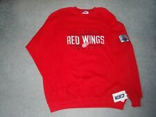 NHL Detroit Red Wings Hockey Sweatshirt Red Embroidered Logo w/Arm Patch SzL NEW