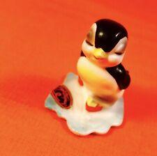Wow! Fun Ice Skating Penguin Figurine Josef Originals Vintage Estate Rare Sale