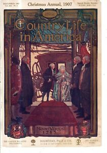 1907  Country Life December Cover only - George and Martha Washington Mt Vernon