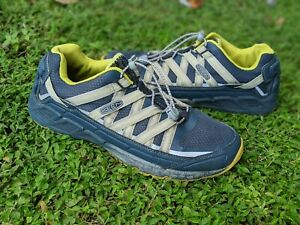 KEEN Versatrail Trail Hiking Shoes Mesh Bungee Lace Blue Yellow Mens 9.5