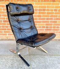 1960s Ingmar Relling Leather And Steel Siesta Lounge Chair  FREE SHIPPING