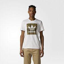 Adidas Skateboarding Trefoil Camuflaje Camiseta Blanco