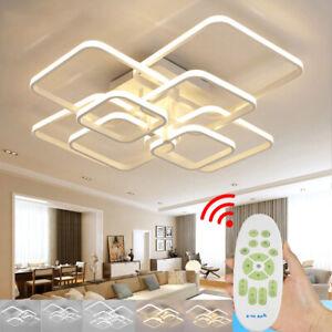 Modern Lamp Square Shape LED Ceiling Light Chandelier Lights Living Room Bedroom