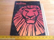 Walt Disney's The Lion King 2001 Live Theatre play program w/ ticket stub
