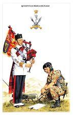 Postcard The British Army Series No.59 Queen's Gurkha Signals by Geoff White