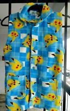 Vintage Pokemon Pikachu button Vest Sweater Shirt gamefreak japan size 120
