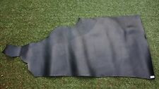 140x80cm BLACK VEGETABLE TANNED LEATHER HIDE 1/2 SIDE COWHIDE 2.5mm thick