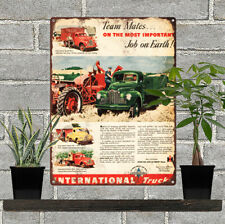 """1948 Truck International Farm Truck Pick-Up AD Metal Sign Repro 9x12"""" 60280"""