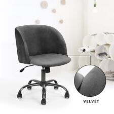 1pc Grey Silky Velvet Armchair Scandinavian Chair for Living Room Kitchen Office