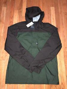 Nike Mens SB Shield Hooded Full Zip Raincoat Jacket Brown Green 938478 220 Sz Lg