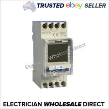 Time Clock Switch 2 Channel 7 Day Digital 2 Pole 24 Hour 240V 16A Switch Timer