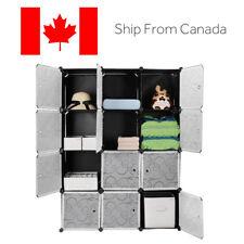 12 Cubes Wardrobe Closet Cabinet Interlocking Storage Organizer -DIY