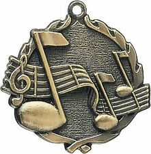 "PUD 1 3/4"" Music Neck Medal 32120, Free engraving"