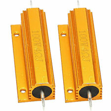 Us Stock 4 Ohm 4 100w Watt Aluminum Housed Metal Case Wirewound Resistors 2pcs